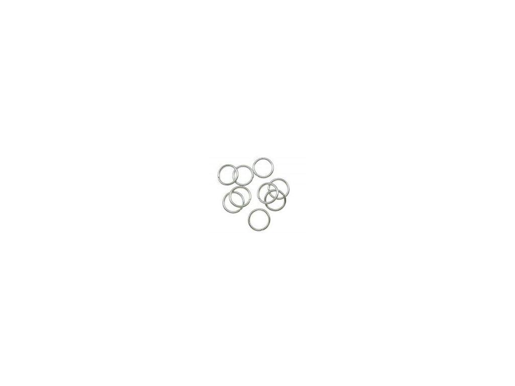 Kroužek pérový 6x1mm, platina