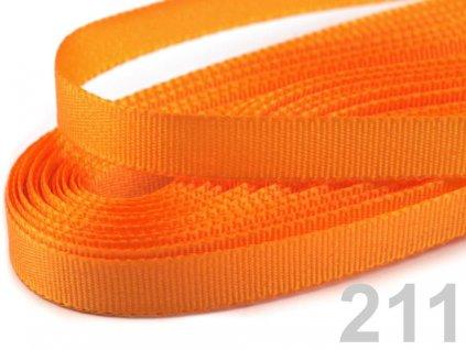 stuha taftová 9 mm světle oranžová