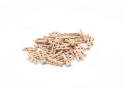 Mini dřevěné kolíčky 50 ks