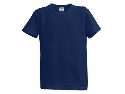 Dětské tričko krátký rukáv S - modré (7-8 let, 128)