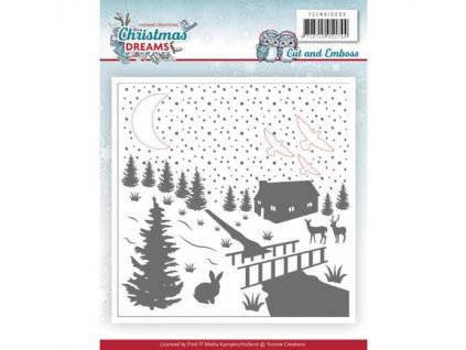 Embosovací a vyřezávací kapsa Vánoční sny