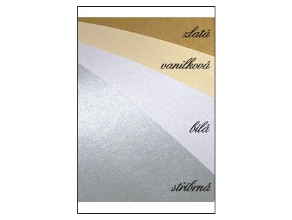 Metalický papír zlatý A4