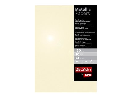 Metalický papír champagne A4