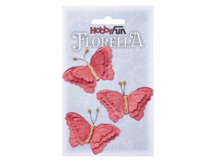 Papíroví motýli FLORELLA červení