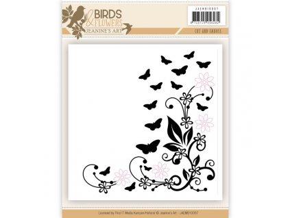 Vyřezávací a embosovací kapsa Motýlci a květy