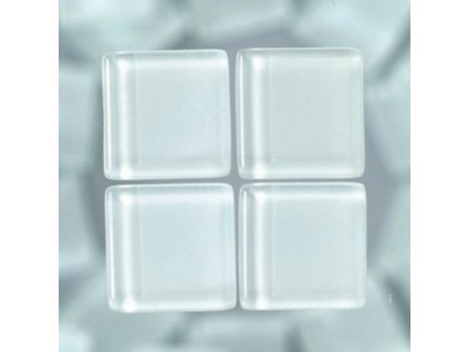 Kamínky mozaika skleněné bílé