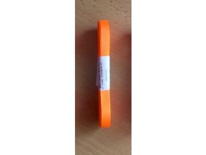 stuha taftová 9 mm reflexní oranžová