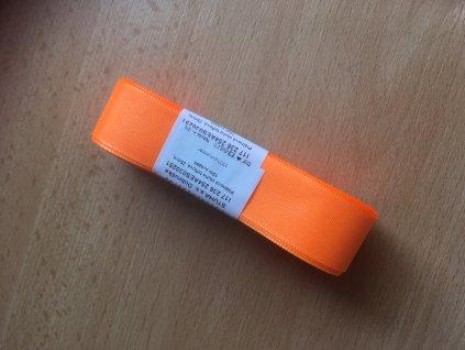 stuha taftová 25 mm reflexní oranžová