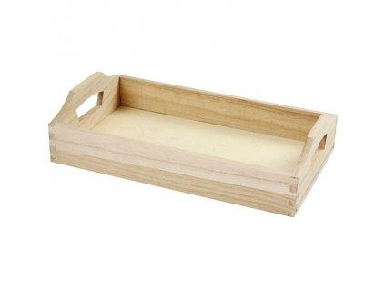 Dřevěný podnos obdélník