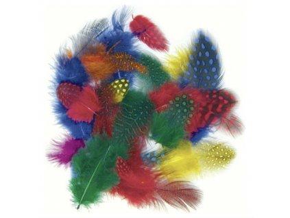 Peříčka barevný mix kropenatá