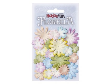 Papírové květy FLORELLA mix barev II.