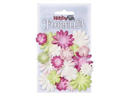 Papírové květy FLORELLA mix barev III.