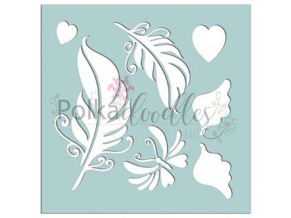 Plastová šablona Peříčka a křídla