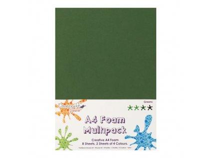 Sada pěnovek - zelená