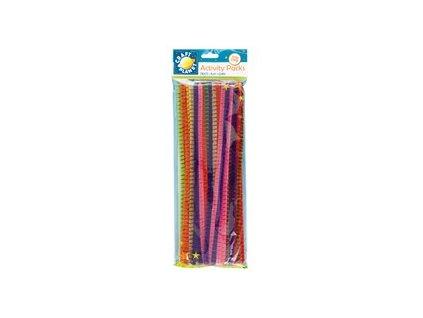 Chlupaté dráty barevné, pruhované (50ks)