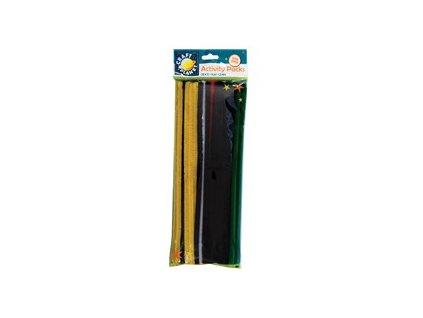 Chlupaté dráty mix jasných barev (60ks)