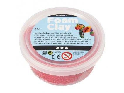 Foam Clay kreativní kuličková hmota sytá metalická růžová