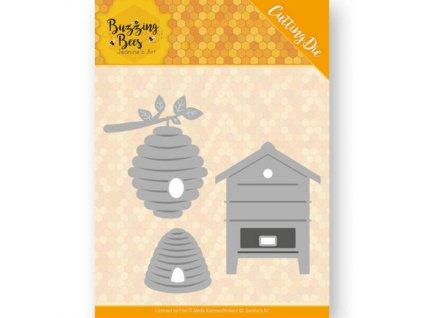 Šablona vyřezávací kovová Včelí úly