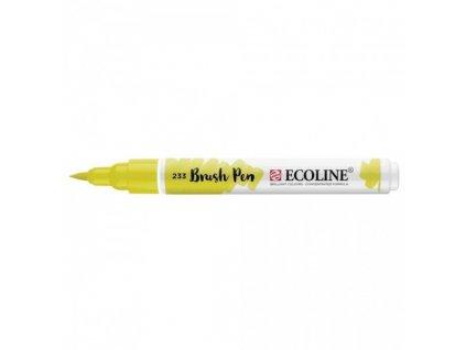 Akvarelový fix se štětcovým hrotem ECOLINE žlutozelená
