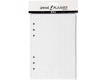 Tečkované stránky pro diáře s kroužkovou vazbou Journal & Planner