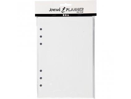 Čisté bílé stránky pro diáře s kroužkovou vazbou Journal & Planner