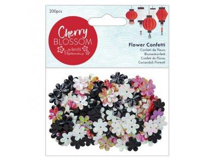 Plastové květiny - barevný mix
