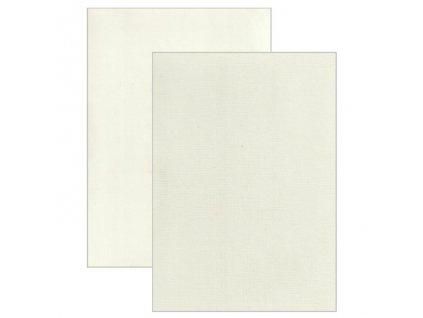 Barevný papír - perleťová texturovaná čtvrtka béžová