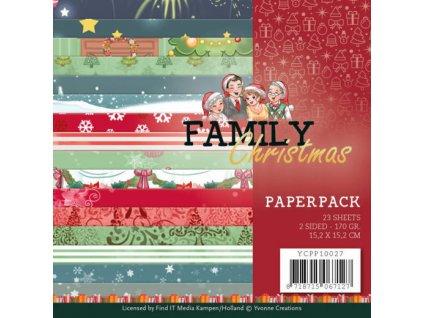 Sada papírů Family Christmas