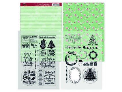 Jednostranné a transparentní papíry Family Christmas