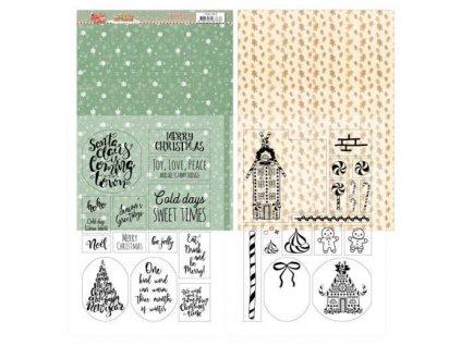 Jednostranné a transparentní papíry Sweet Christmas