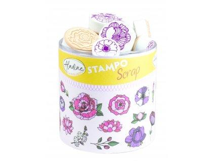 aladine stampo scrap floral 03750