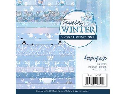Sada papírů Sparkling Winter