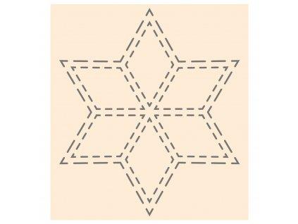 Šablona plastová hvězda