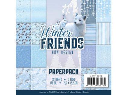 Sada papírů Winter Friends