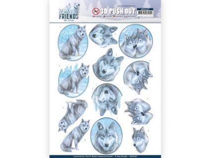 3D Výřezy Polární vlci