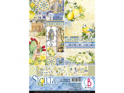 Sada oboustranných papírů Sicilia A4
