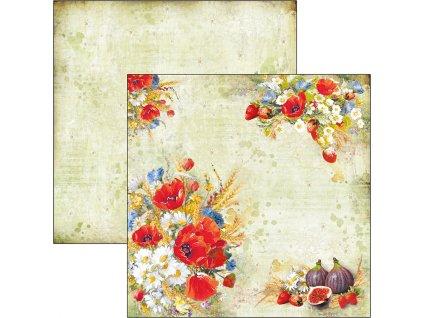 Oboustranný papír Wildflower 30x30cm