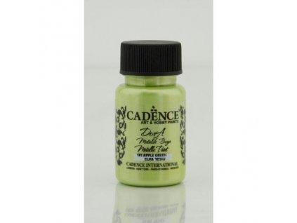 metalicka akrylova barva dora metalic zelene jablko apple green 50 ml