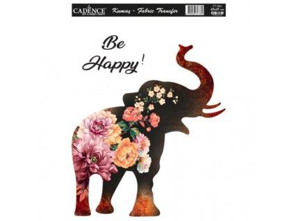 nazehlovaci nalepka 25x35cm kvetinovy slon