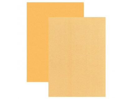 Barevný papír - perleťová texturovaná čtvrtka sluneční žlutá