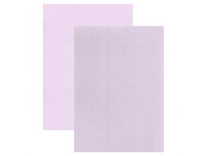 Barevný papír - perleťová texturovaná čtvrtka levandule