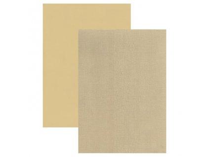 Barevný papír - perleťová texturovaná čtvrtka Latte Macchiato