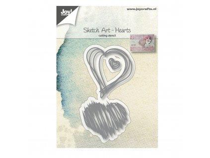 Art srdce vyřezávací kovové šablony