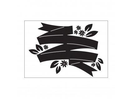 Embosovací kapsa Květinový banner