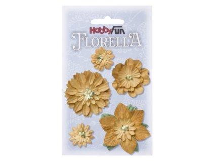 Papírové květy FLORELLA - béžová