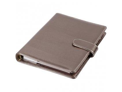 Diář s kroužkovou vazbou Journal & Planner šedý metalický