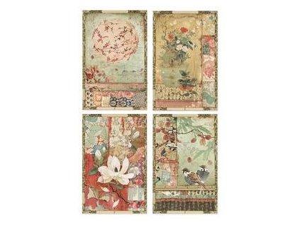 Rýžový papír Japonské karty