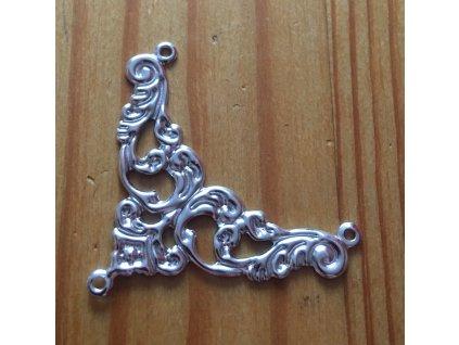Kovový ornament starostříbro 14