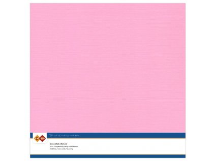 Barevný papír - texturovaná čtvrtka růžová 30x30cm