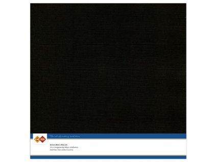 Barevný papír - texturovaná čtvrtka černá 30x30cm